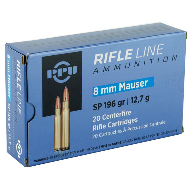 PPU Rifle Line 8mm 196gr Soft Point Ammunition 20rds