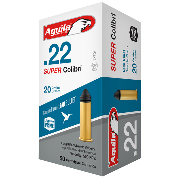 Aguila Super Colibri 22LR 20gr Subsonic Lead Ammunition 50rds