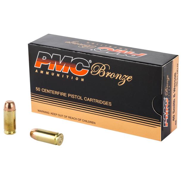 PMC Bronze 40 S&W 180gr FMJ Ammunition 50rds
