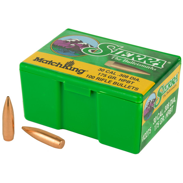 Sierra MatchKing .30 Caliber 175gr HPBT Ammunition 100rds