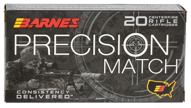 Barnes Precision Match 6.5 Creedmoor 140gr Open Tip Match Boat-Tail Ammunition 20rds