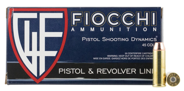 Fiocchi Shooting Dynamics 45 Colt (LC) 225GR CMJ Ammunition 50 Rounds