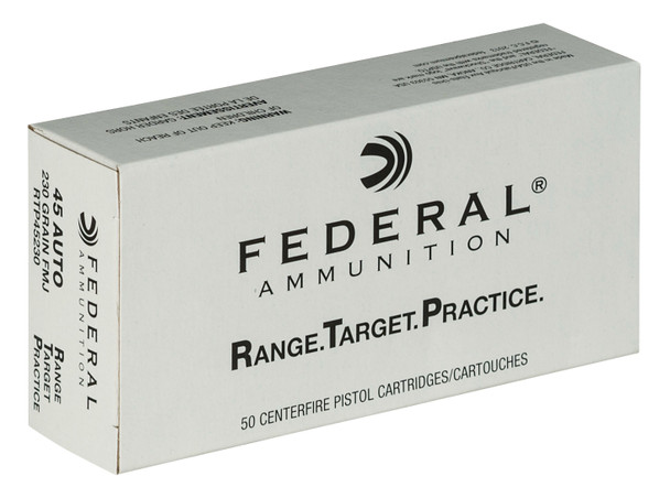 Federal Range & Target 45 ACP 230GR FMJ Ammunition 50rds