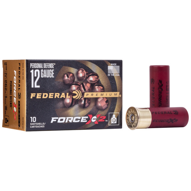 """Federal Force X2 12GA 2.75"""" 9 Pellets 00 Buck Shot Ammunition 10 Rounds"""
