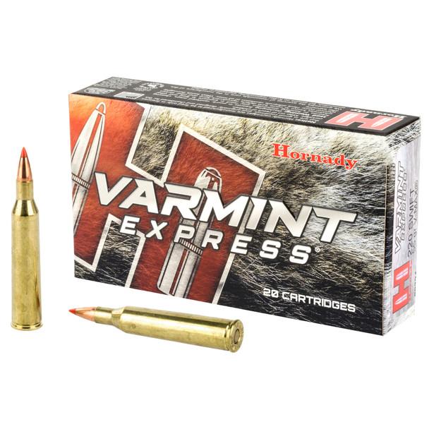 Hornady Varmint Express 220 Swift 55GR V-Max Ammunition 20 Rounds
