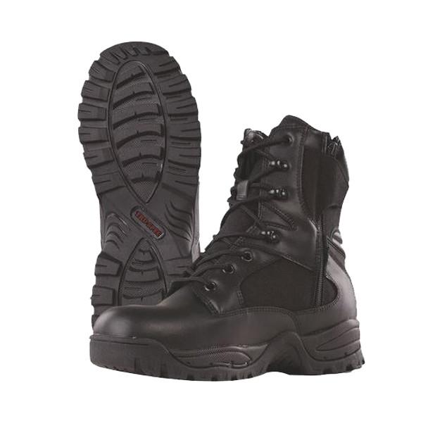 "Tru-Spec Tactical Assault 9"" Black Boots w/Side Zip"