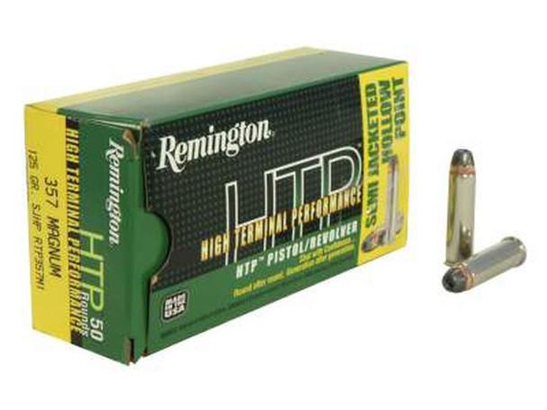 Remington HTP 125gr .357 Magnum SJHP Ammunition 50 Rounds
