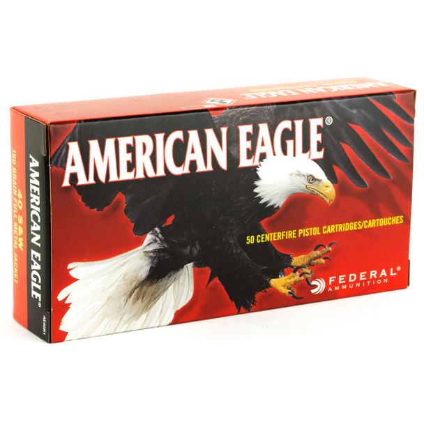 Federal American Eagle .40 S&W 180GR FMJ Ammunition 50rds