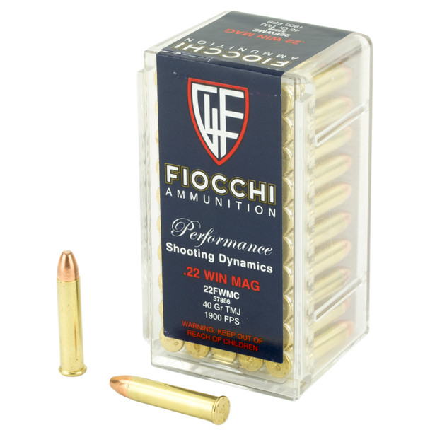 Fiocchi Shooting Dynamics 22 Mag 40GR FMJ Ammunition 50 Rounds
