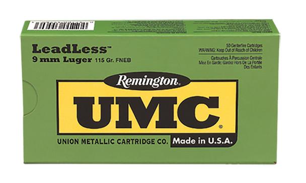 Remington UMC 9mm 115gr LeadLess Ammunition 50rds
