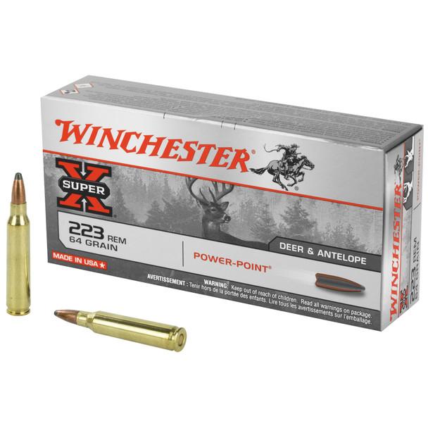 Winchester Super-X 223 Rem 64GR PP Ammunition 20 Rounds