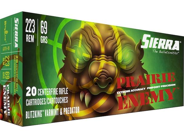 Sierra GameChanger 223 Rem 69GR Sierra BlitzKing Ammunition 20 Rounds