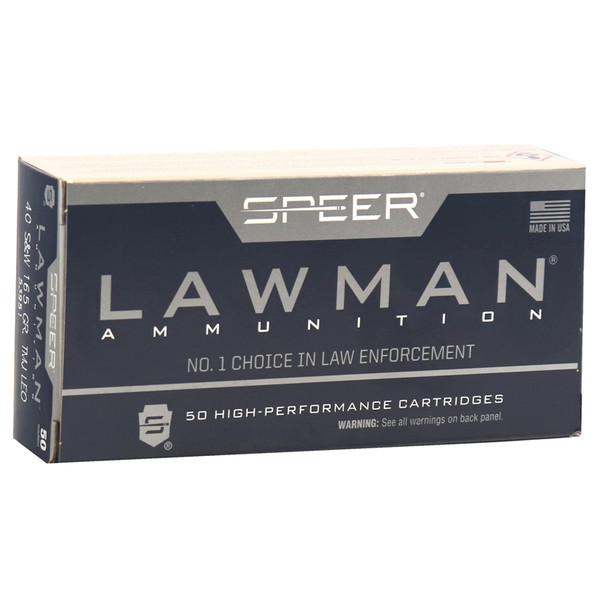 Speer Lawman 40SW 165GR TMJ Ammunition 50rds