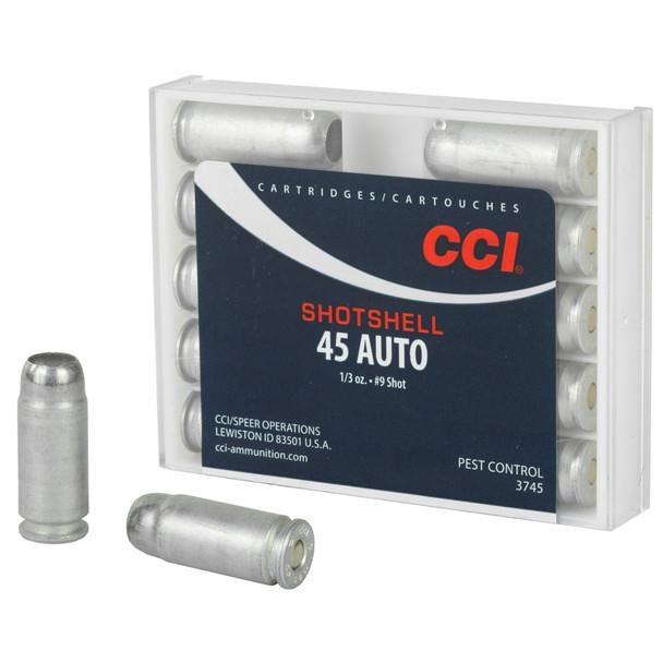 CCI Pest Control 45 ACP 9 Shot Ammunition 10 Rounds