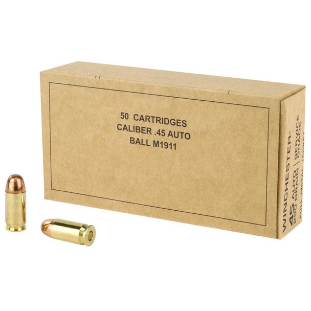 Winchester Service Grade 45 ACP 230GR FMJ Ammunition 50 Rounds