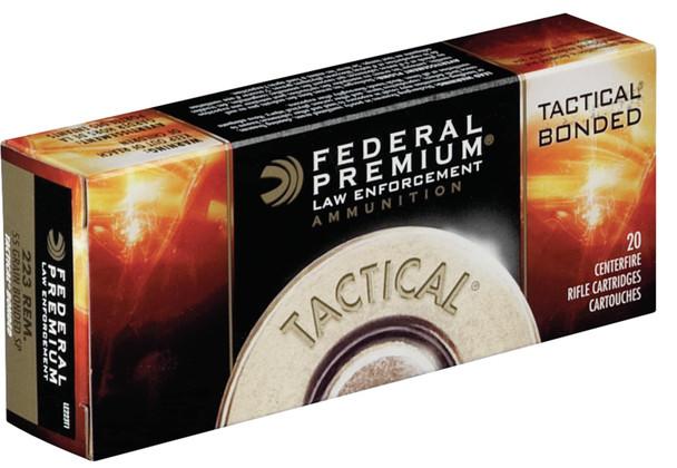Federal Premium LE Tactical .223 Remington 55gr Bonded Soft Point Ammunition 20 Rounds