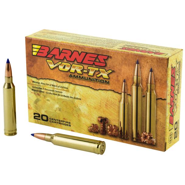 Barnes VOR-TX 7mm Rem Mag 140GR Tipped TSX Boat-Tail Ammunition 20 Rounds