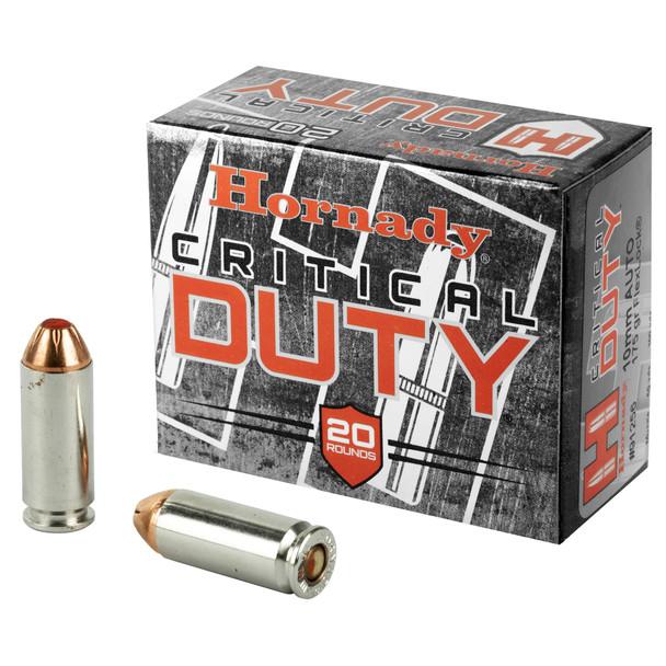 Hornady Critical Duty 10mm 175GR FlexLock Ammunition 20 Rounds
