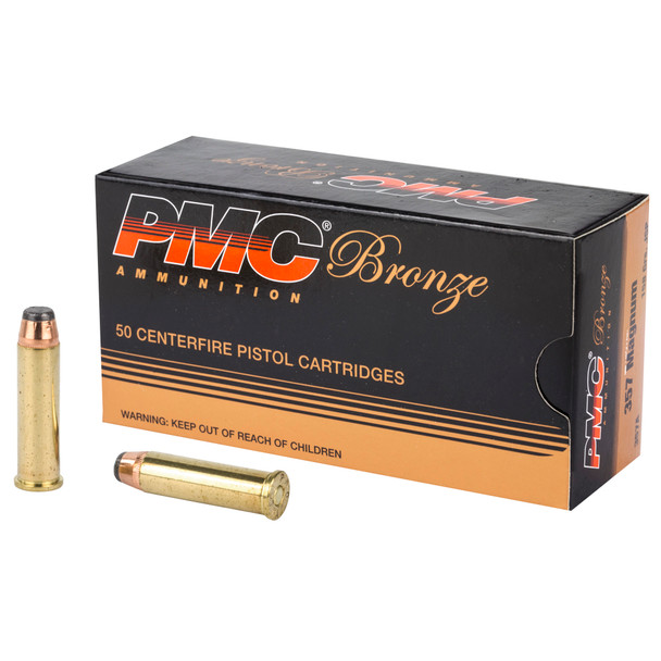 PMC Bronze 357 Mag 158GR JSP Ammunition 50 Rounds