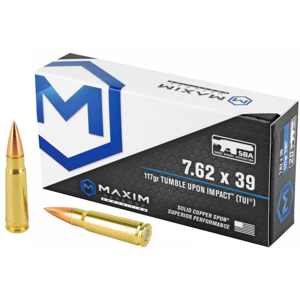 Maxim Defense 7.62mm 117GR TUI Ammunition 20 Rounds