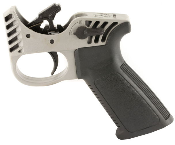 The Ruger Elite 452 MSR trigger is the ideal upgrade for any Modern Sporting Rifle. This two-stage trigger offers a smooth, crisp, 4.5 lb. trigger pull and a lightweight hammer that enables a 30 percent faster lock time over standard MSR triggers. The Ruger Elite 452 also features a full-strength hammer spring for consistent primer ignition and includes a safety selector and all necessary pins and springs for easy installation. Packaged with an ergonomic, optimized trigger-reach, polymer pistol grip, the Ruger Elite 452 is shipped fully assembled in a polymer fire control housing which allows the trigger to be dry-fired prior to installation, and the assembly can also serve as a trigger manipulation training tool. As an added benefit, the pistol grip and safety selector switch packaged with the trigger can be installed on any Mil-Spec AR rifle lower as replacement parts.