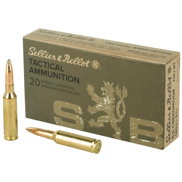 SB Rifle 6.5 Creedmoor 140GR FMJBT Ammunition 20 Rounds