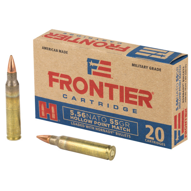 Frontier 5.56mm 55GR HP Match Ammunition 20 Rounds