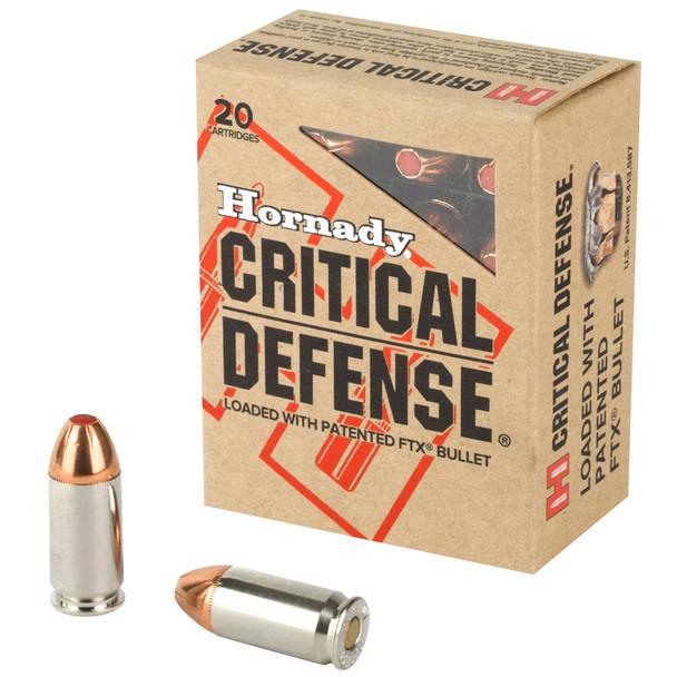 Hornady Critical Defense 45 ACP 185GR Flex Tip eXpanding Ammunition 20 Rounds