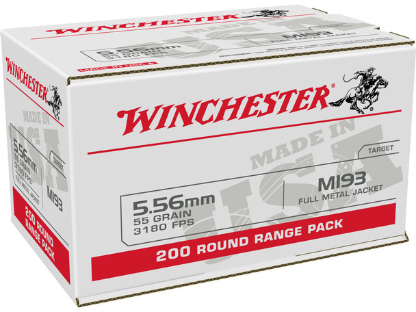 Winchester 5.56mm 55GR FMJ Ammunition 200 Rounds