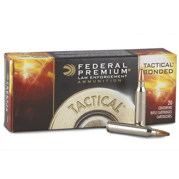 Federal Tactical Bonded .223 Remington 62gr Soft Point Ammunition 200 Rounds