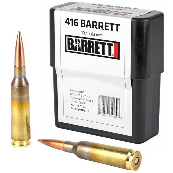 Barrett 416 Barrett 452gr MTAC Ammunition 10rds