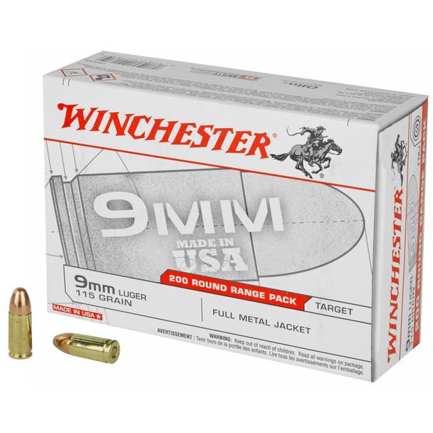 Winchester 9mm 115gr FMJ Ammunition 200rds