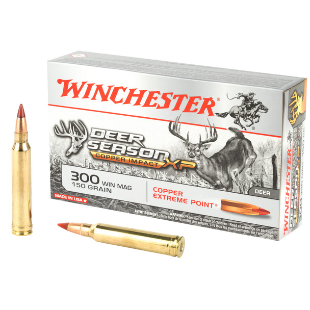 Winchester Deer Season XP 300 Win 150gr Copper Extreme Point Ammunition 20rds