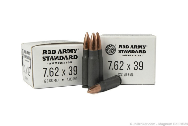 Century Arms Red Army Standard 7.62x39mm 122GR BTHP Ammunition 20 Rounds