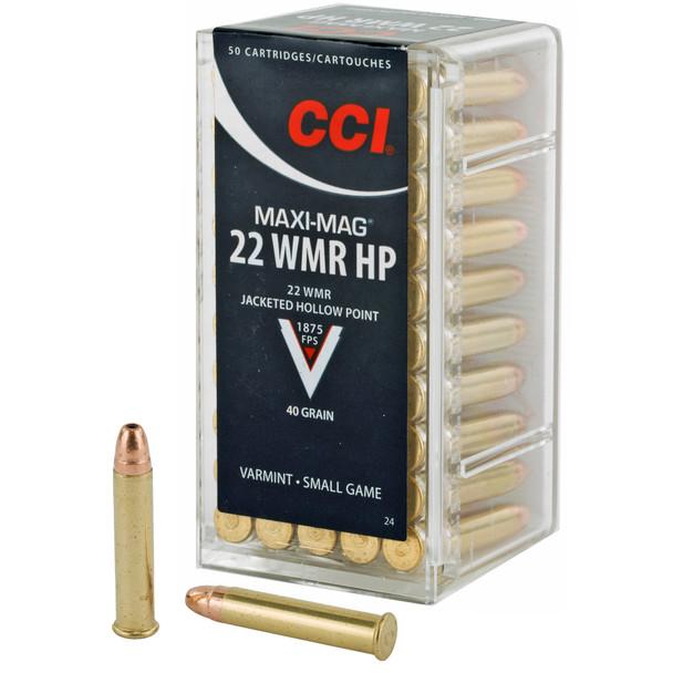 CCI Maxi-Mag 22 WMR 40GR JHP Ammunition 50 Rounds