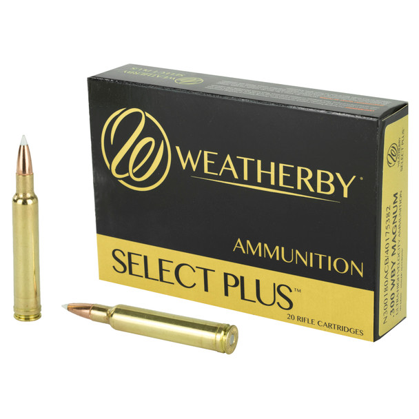 Weatherby Select Plus 300 Weatherby Mag 180GR Nosler AccuBond Ammunition 20 Round