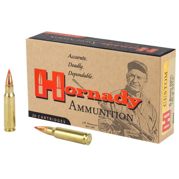 Hornady Custom 6.8 SPC 120gr SST Ammunition 20rds