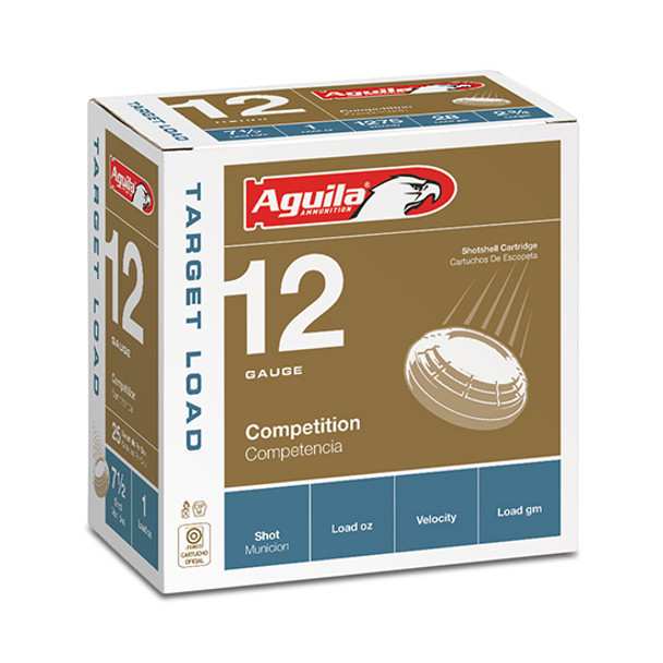 "Aguila Target Load Standard Velocity 12GA 2.75"" 1-1/8 oz 8 Shot Ammunition 25 Rounds"