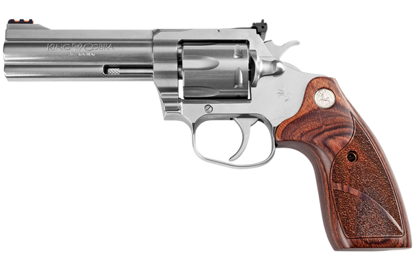 "Colt King Cobra Target 357 Mag 6rd 4.25"" Matte Stainless Steel Altamont Wood Grip"