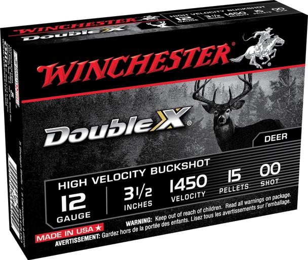 "Winchester Double X High Velocity 12GA 3.5"" 00 Buckshot Ammunition 5rds"