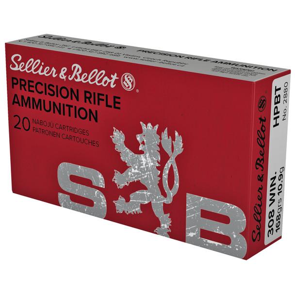 SB Precision Rifle 308 Winchester 168GR HPBT Ammunition 20 Rounds