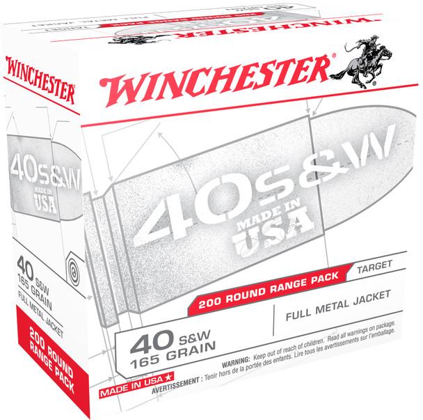 Winchester .40 S&W 165gr FMJ Ammunition 200rds