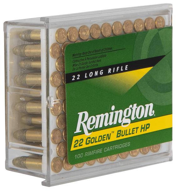 Remington Golden Bullet 22LR 36gr HP Ammunition 100rds