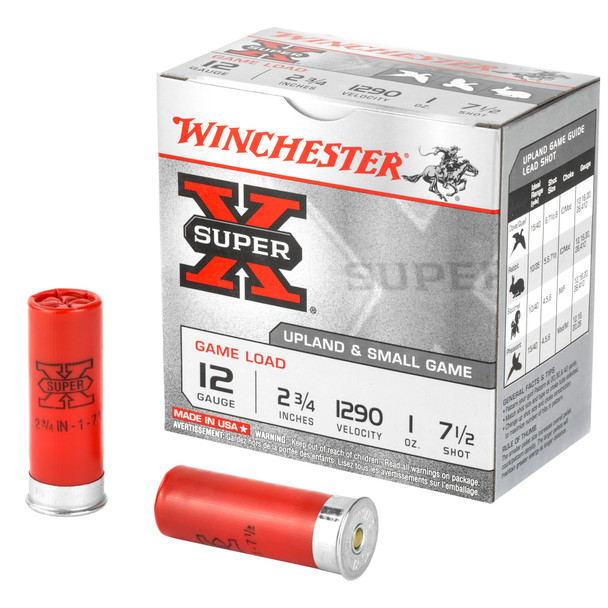 "Winchester Super-X 12GA 2.75"" 1oz 7.5 Shot Ammunition 25rds"