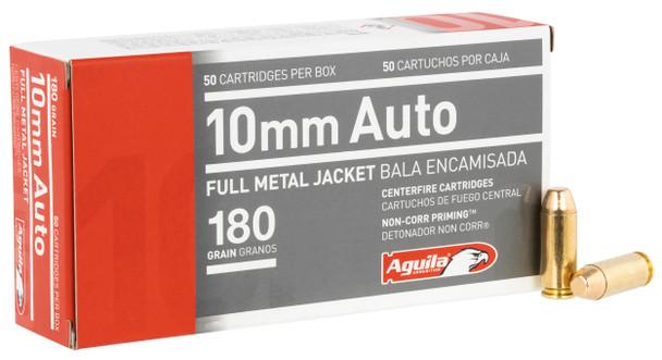 Aguila 10mm 180gr FMJ Ammunition 50rds