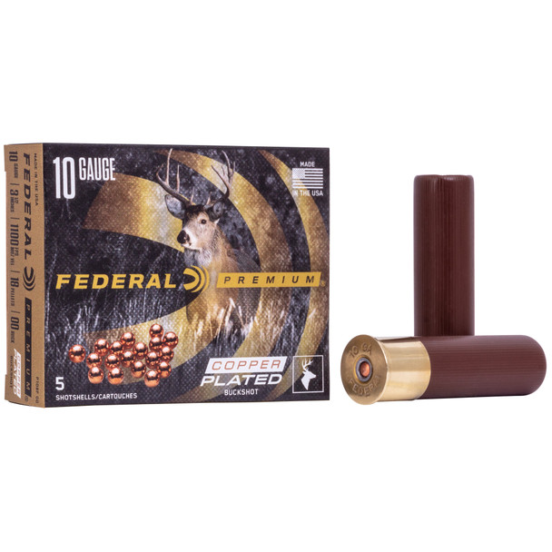 "Federal Premium Vital Shok 10GA 3.5"" 00 Buck Ammunition 5rds"