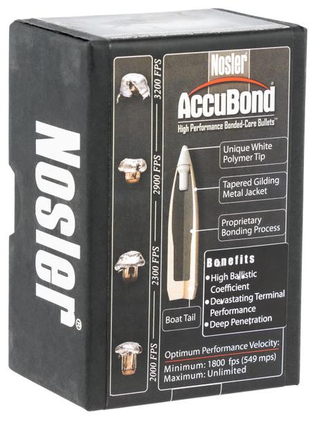 Nosler AccuBond 338 180gr Spitzer Point Boat-Tail Bullets 50rds