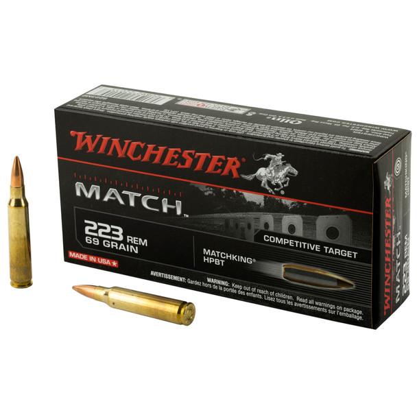 Winchester Match .223 Remington 69gr Match BTHP Ammunition 20rds