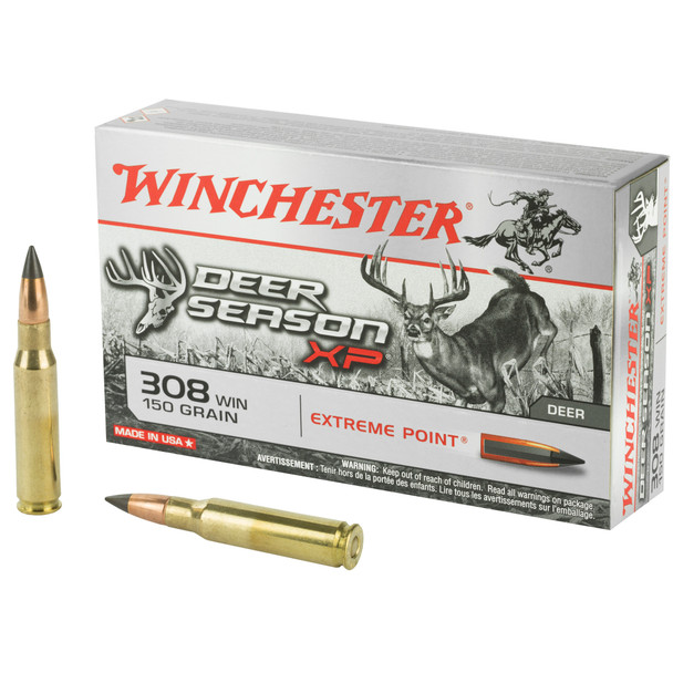 Winchester Deer Season XP 308 Winchester 150GR Extreme Point Ammunition 20rds