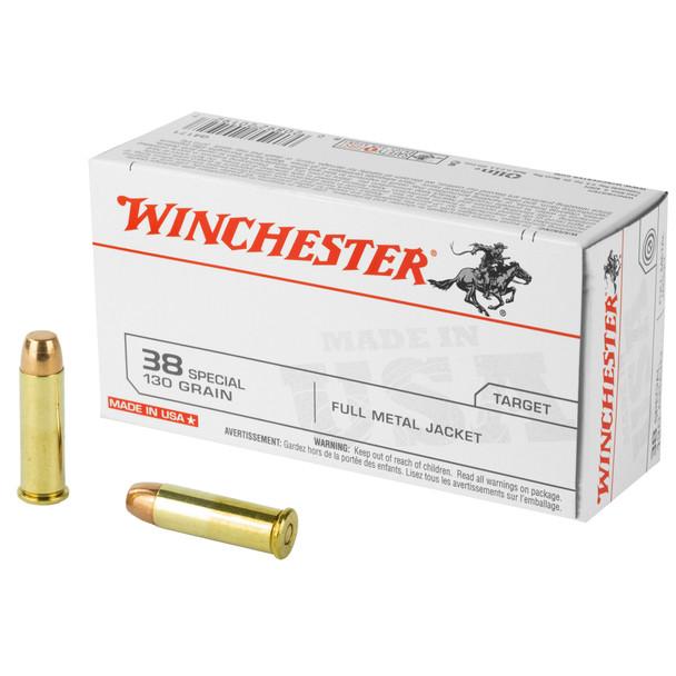 Winchester 38SPL 130GR FMJ Ammunition 50rds